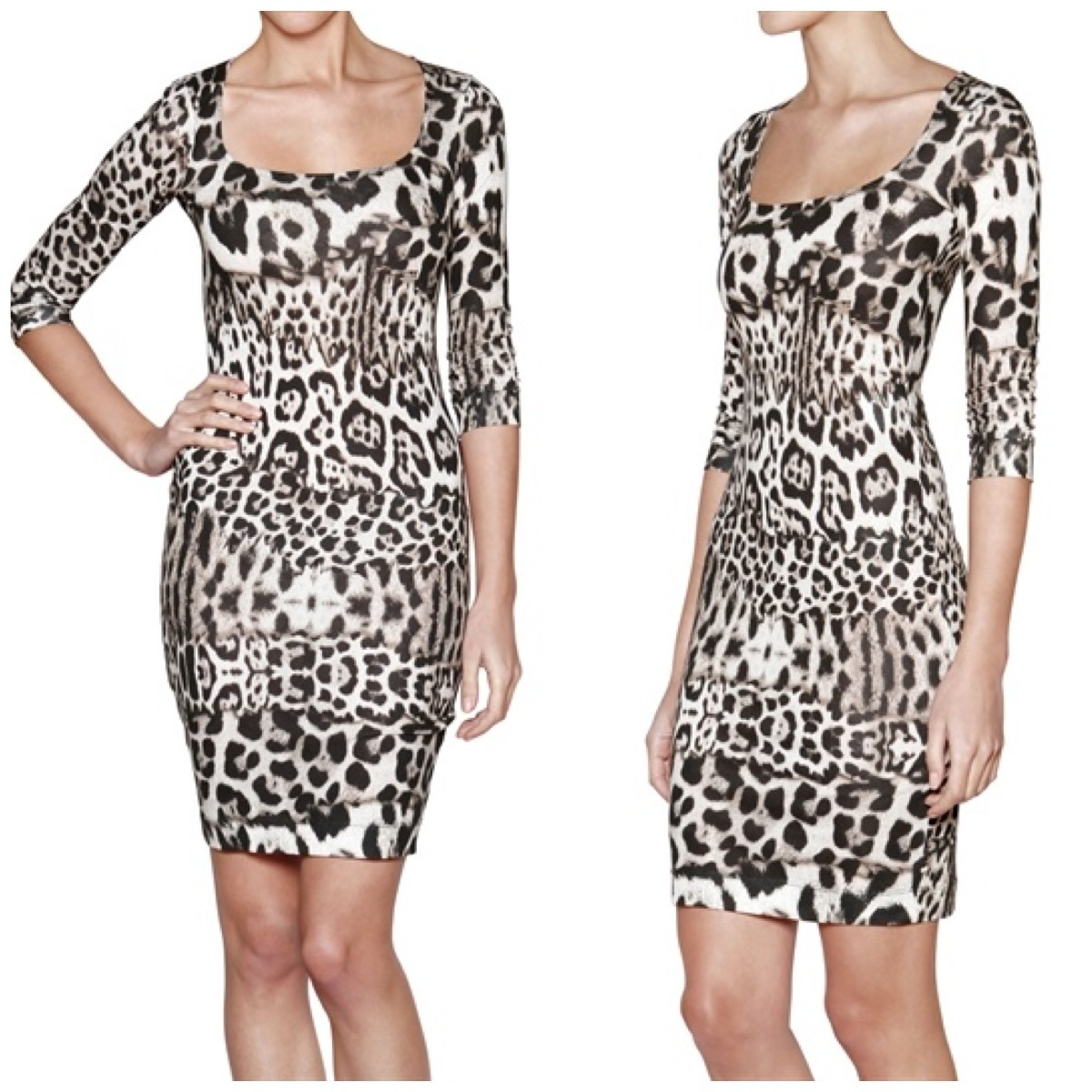 2f5e1347f0 JUST CAVALLI LEOPARD PRINT DRESS